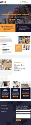Building Company Landing Page