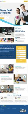 Cleaning Company Landing Page