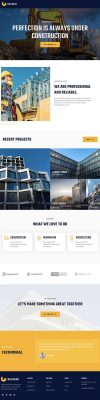 Construction one page website