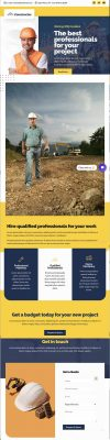 Cpnstruction Business Landing Page.